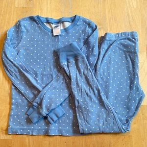 Mini Biden Blue with White Ploka Dot Pajama Set PJ